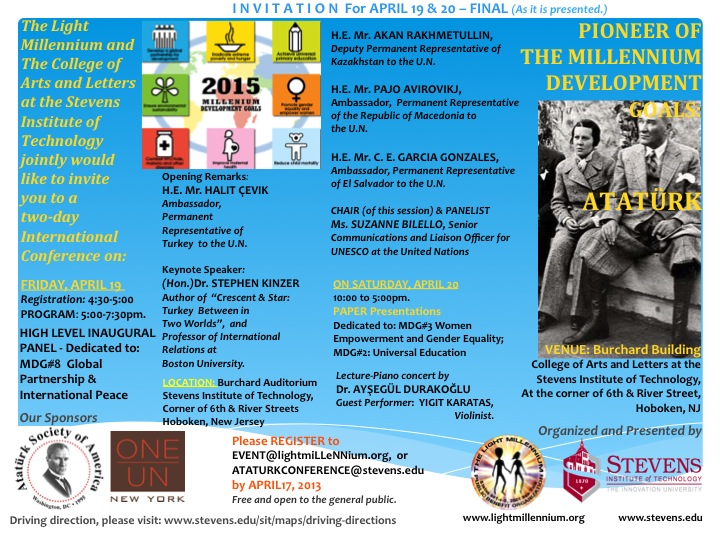 MDGS & ATATURK - INVITE For April 19-20, 2013 (FinalINAL