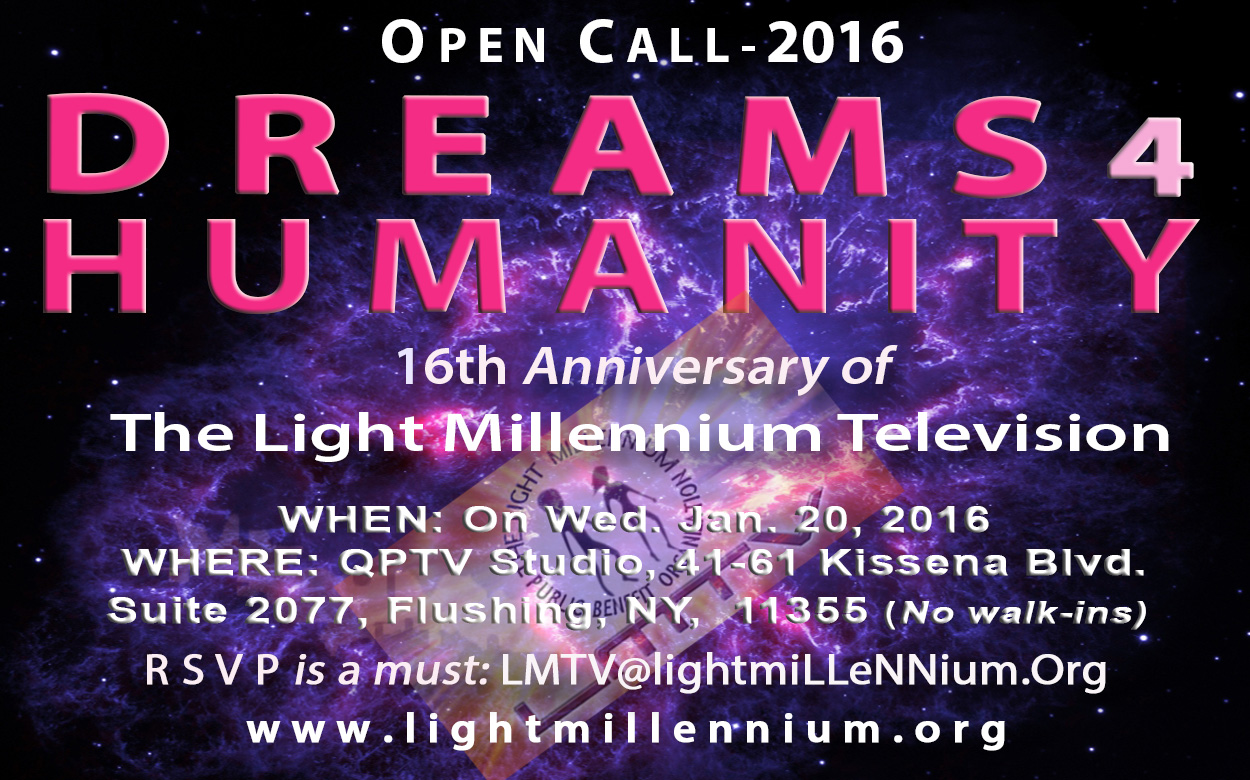 DREAMS FOR HUMANITY - LMTV Studio - Open Call