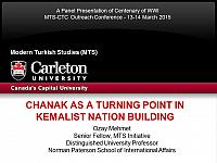 """CHANAK AS A TURNING POINT IN KEMALIST NATION BUILDING"""