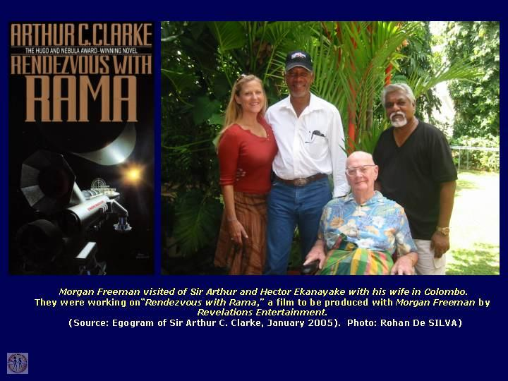 arthur-c-clarke-with-morgan-freeman-his-wife-nd-hector-ekanayake