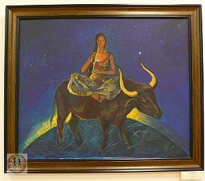 woman-on-a-taurus-almaty-kasteev-museum