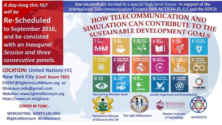 INVITE: HOW TELECOMMUNICATION AND SIMULATION CAN CONTRIBUTE TO THE SUSTAINABLE DEVELOPMENT GOALS